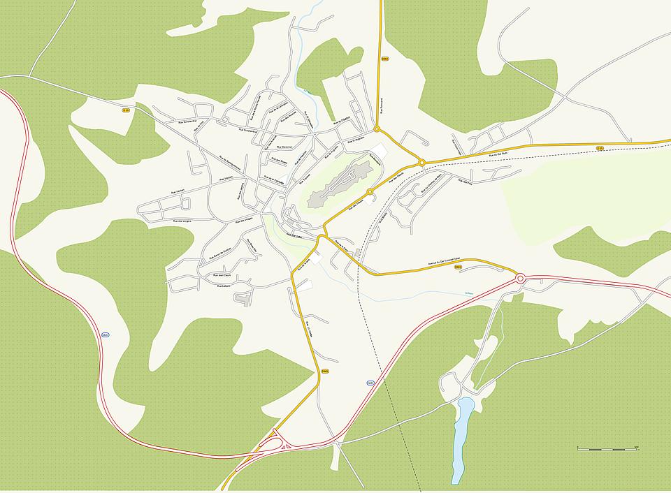 plan de la ville de Bitche en Moselle
