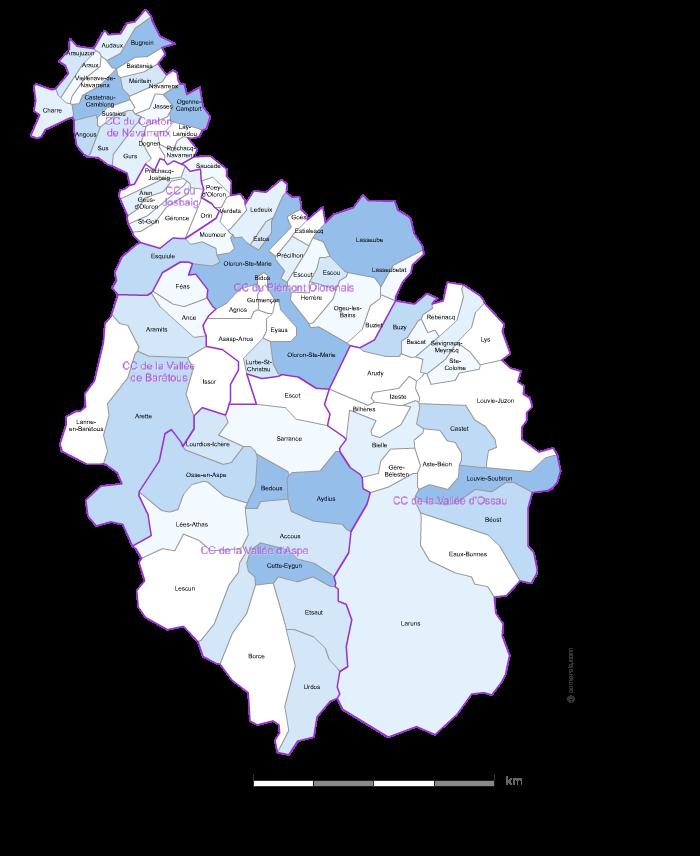 communes sud Pyrénées