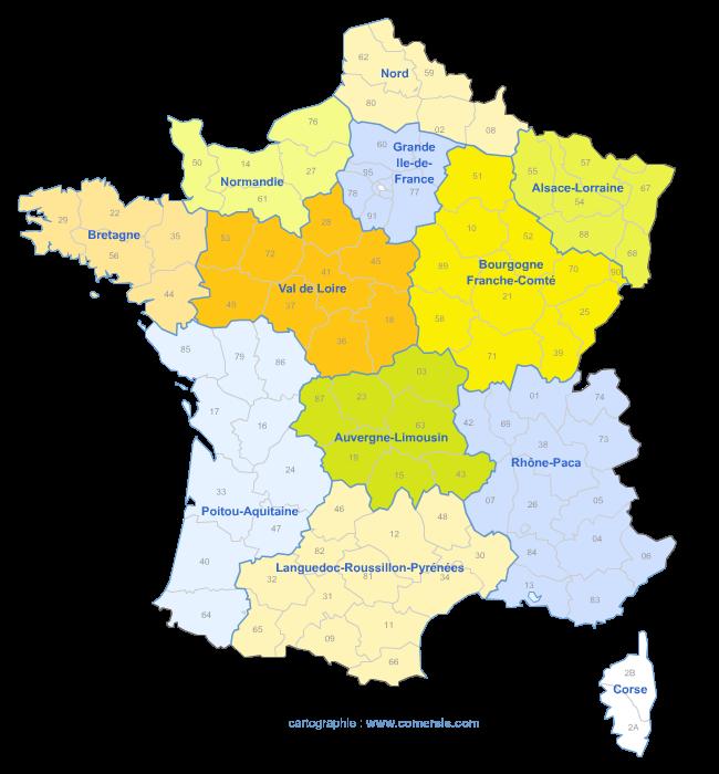 redécoupage en douze régions