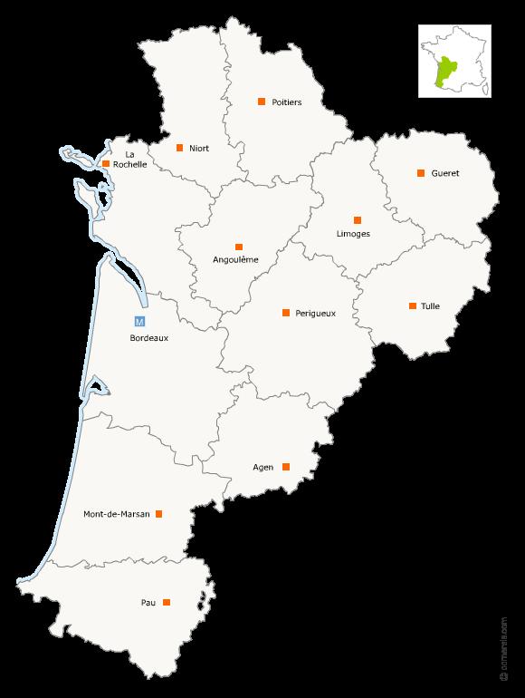 Fusion des régions Aquitaine Limousin et Poitou-Charentes