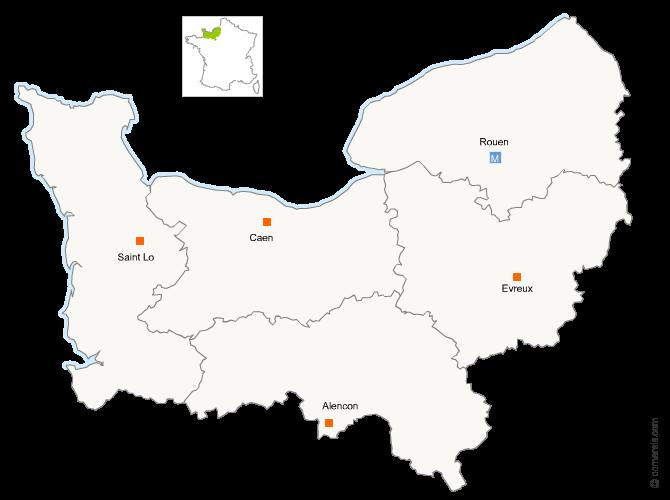 Fusion de la Basse-Normandie avec la Haute-Normndie