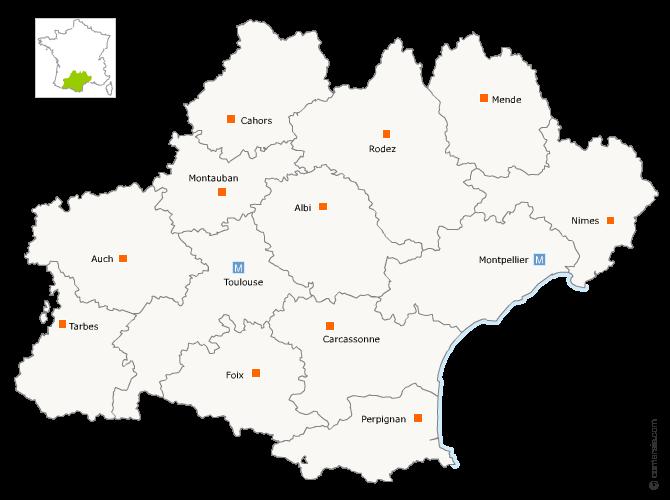Redécoupage région Languedoc-Roussillon et Midi-Pyrénées