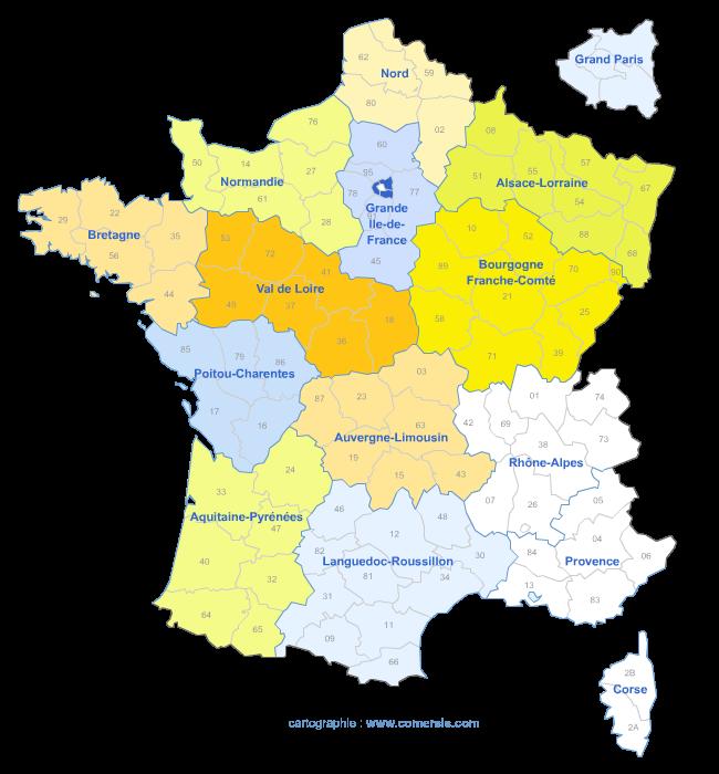 Variante des la réforme a 15 régions