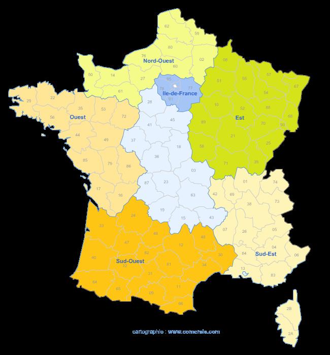 Redécoupage selon les circonscriptions européennes