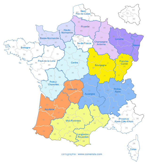 nouvelle proposition de redécoupage des régions de France
