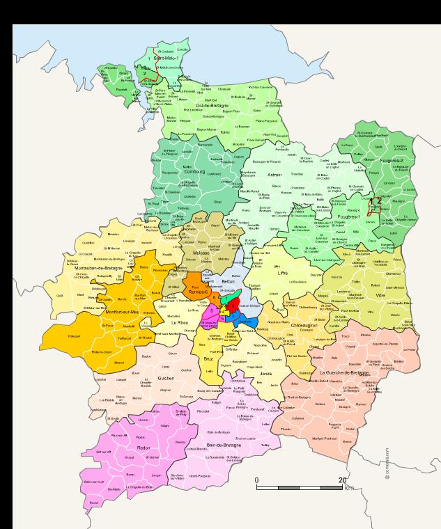 ille et vilaine france map