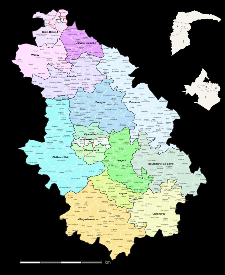 Carte des nouveaux cantons de la haute marne avec villes for Haute marne carte