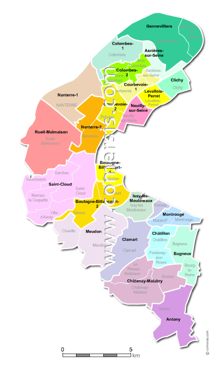 Carte Villes Hauts De Seine