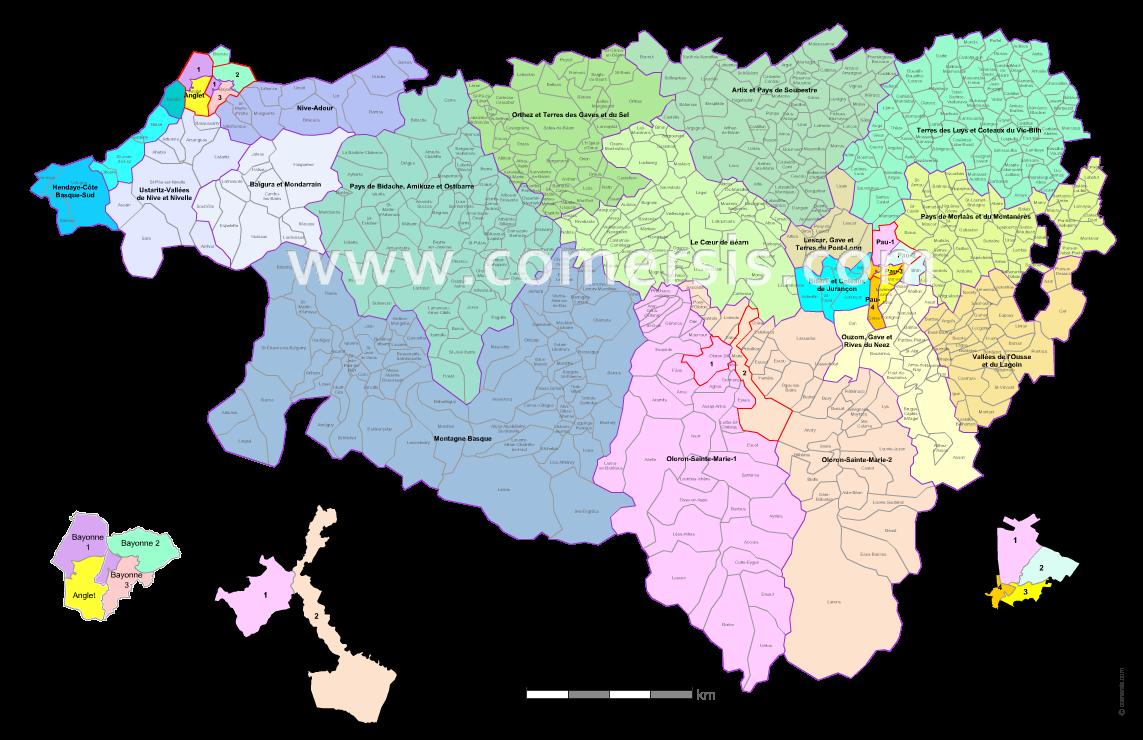Ajouter au panier nouveaux cantons des  Pyrénées-Atlantiques 2015 pour Word et Excel.