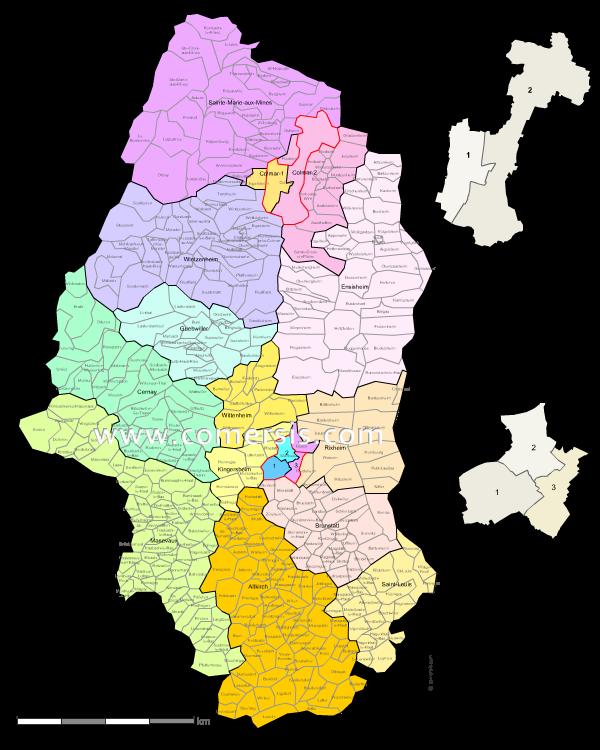 Ajouter au panier nouveaux cantons du Haut-Rhin 2015 pour Word et Excel.