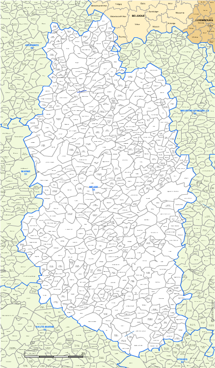 Carte Villes Meuse
