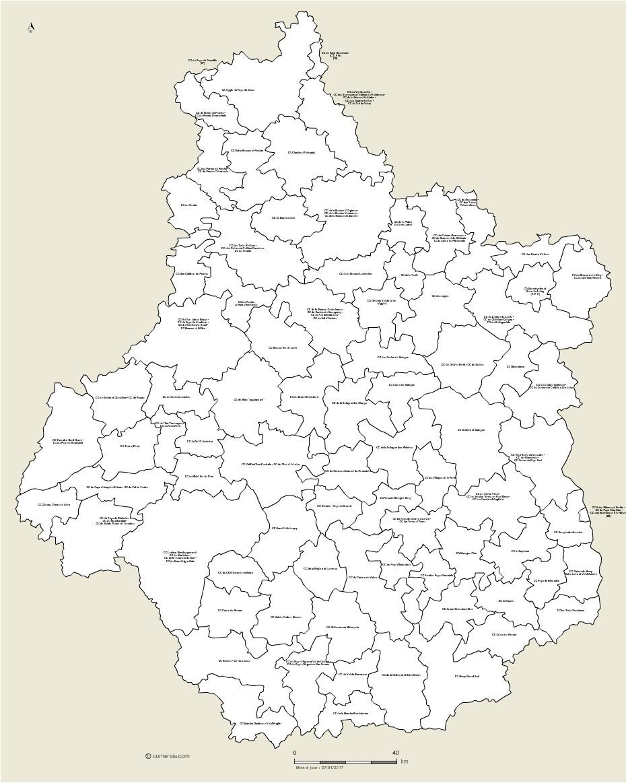 Carte des intercommunalités du Centre-Val de Loire