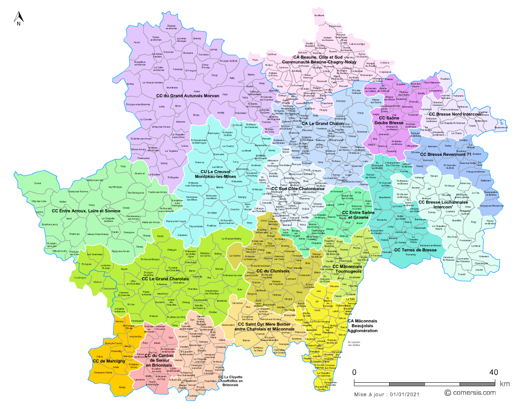 Communaut�s de communes de Sa�ne-et-Loire