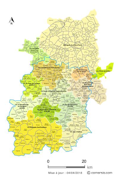 Communaut�s de communes de l'Essonne