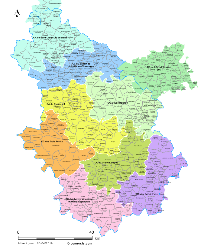 Carte de la haute marne for Haute marne carte