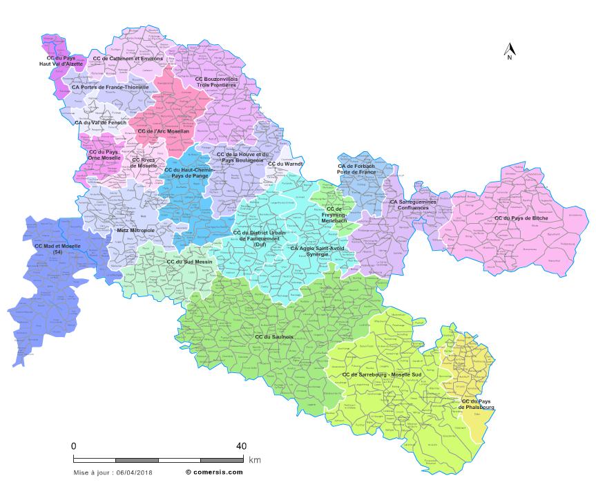 Communaut�s de communes de la Moselle