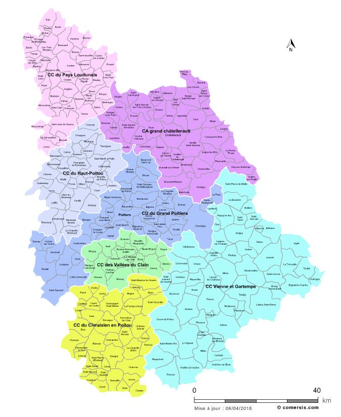 Communaut�s de communes de la Vienne