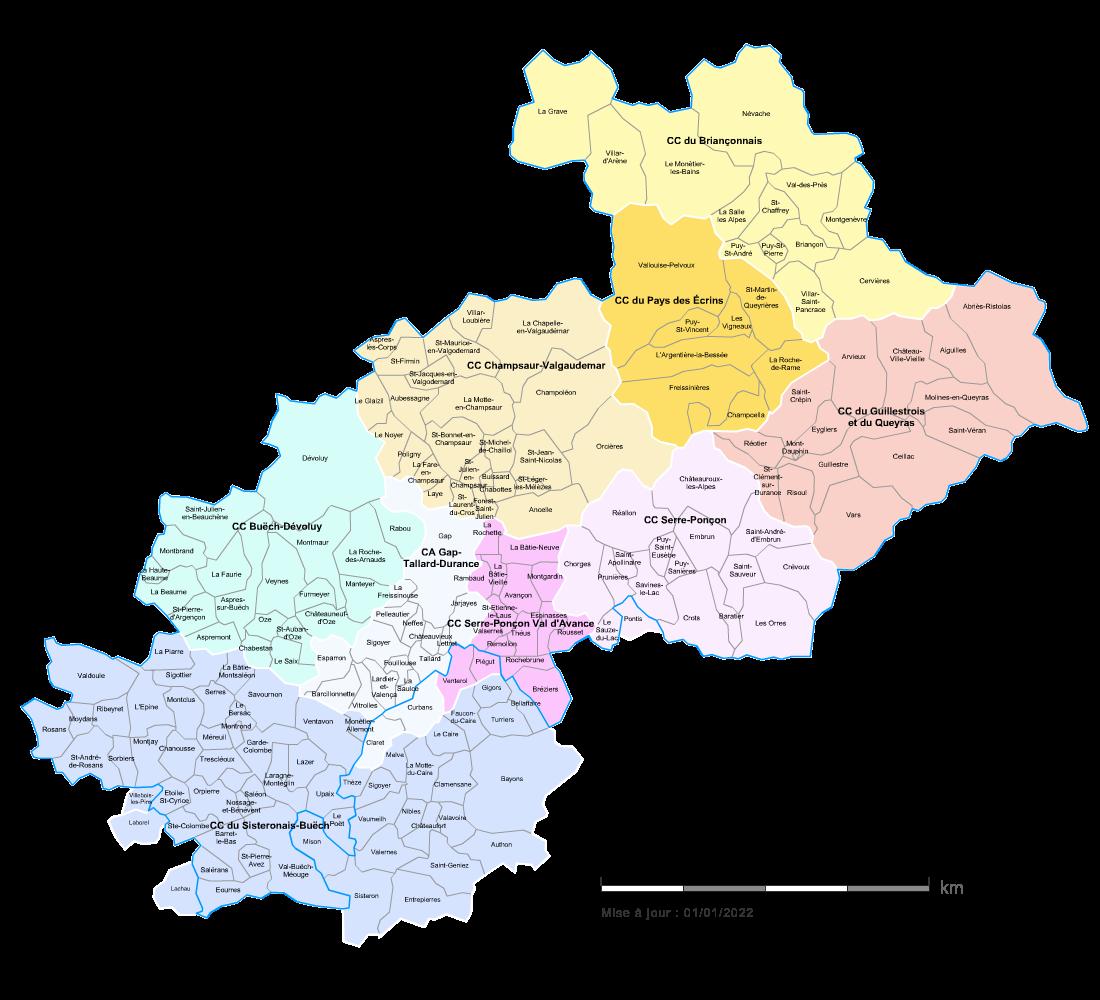 Communaut�s de communes des Hautes-Alpes