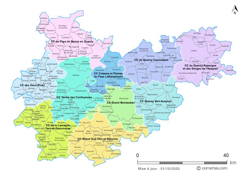 Communaut�s de communes du Tarn-et-Garonne