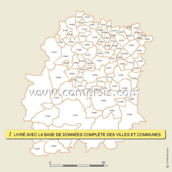 Codes postaux de l'Essonne