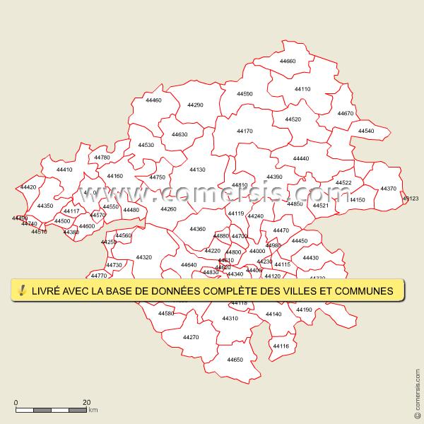 Codes postaux de la Loire-Atlantique