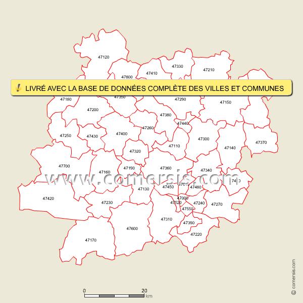 Codes postaux du Lot-et-Garonne