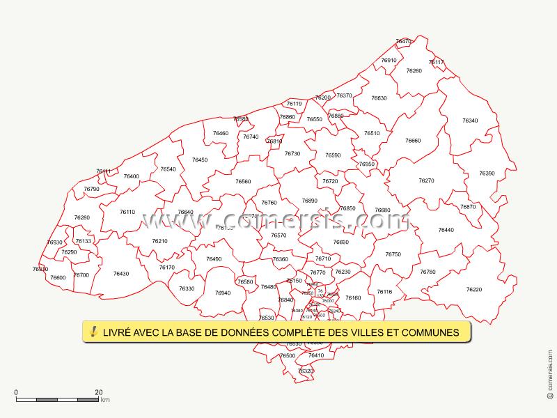 carte des codes postaux de la seine maritime
