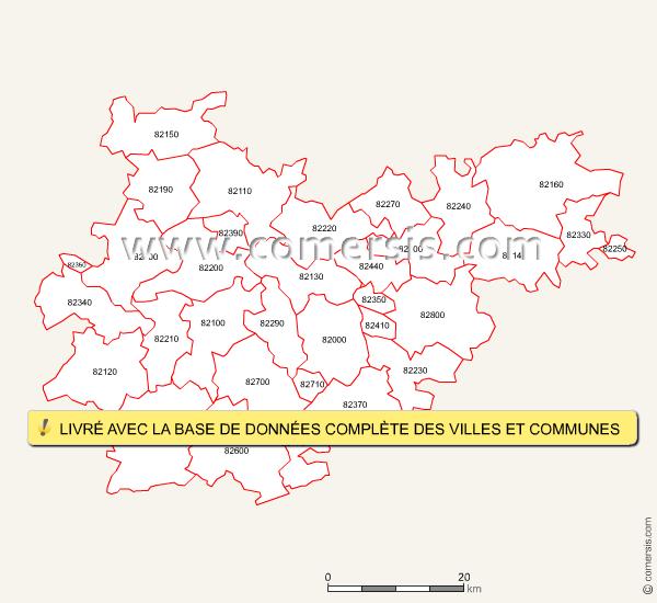 Codes postaux du Tarn-et-Garonne
