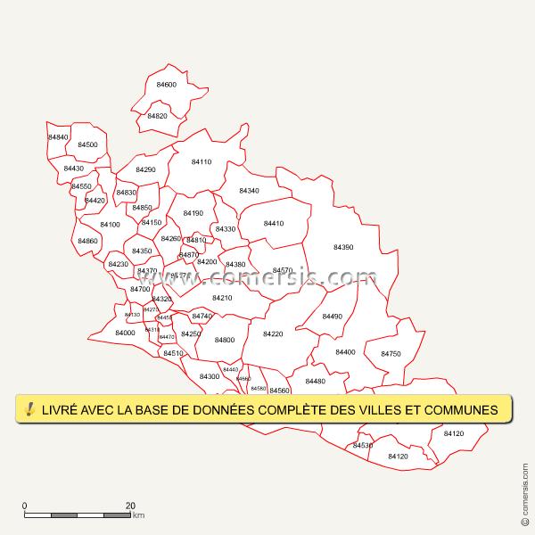 carte des codes postaux du vaucluse ForCode Postal Vaucluse