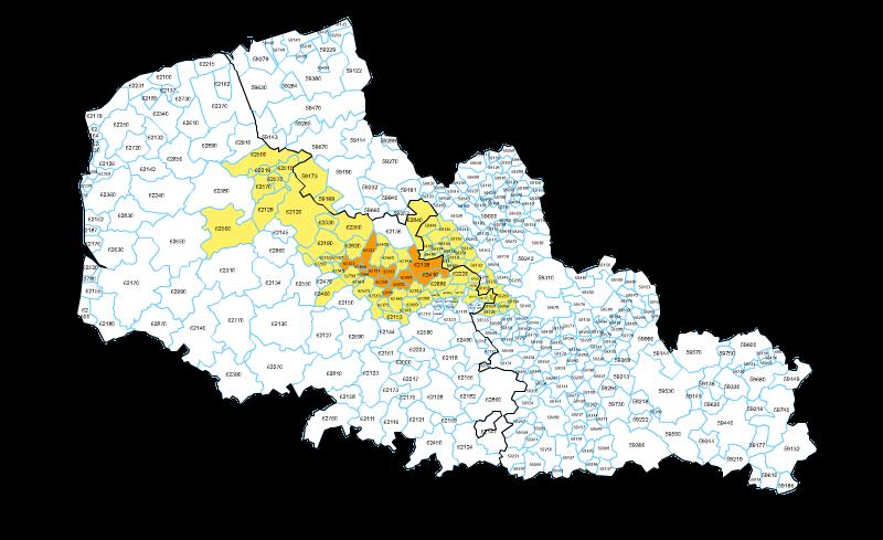 Carte Des Villes Du Pas De Calais