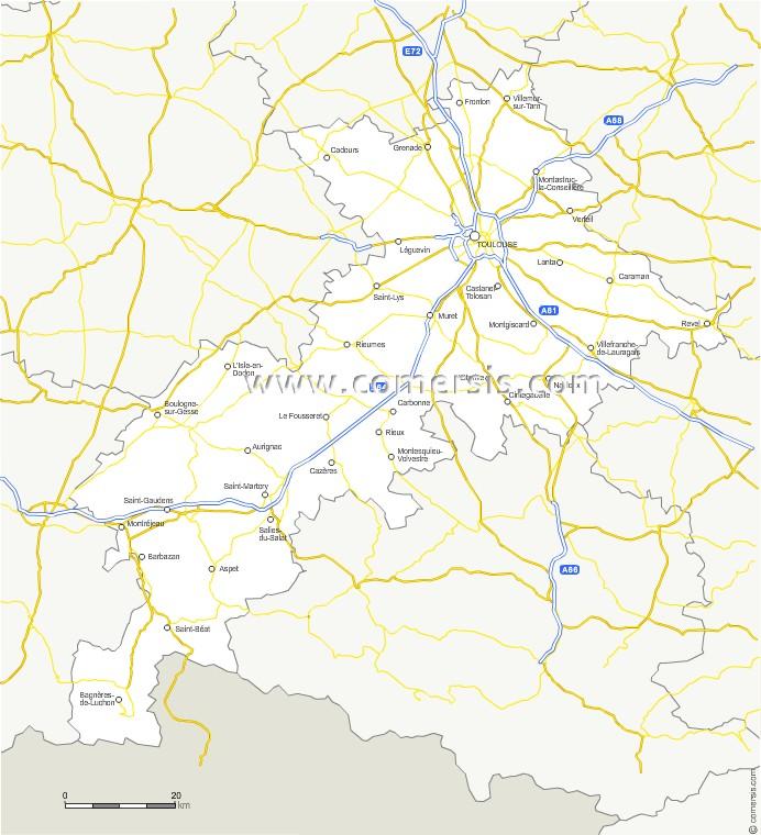 Routes de la Haute-Garonne