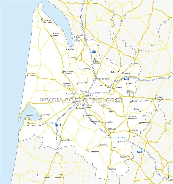 Routes de la Gironde