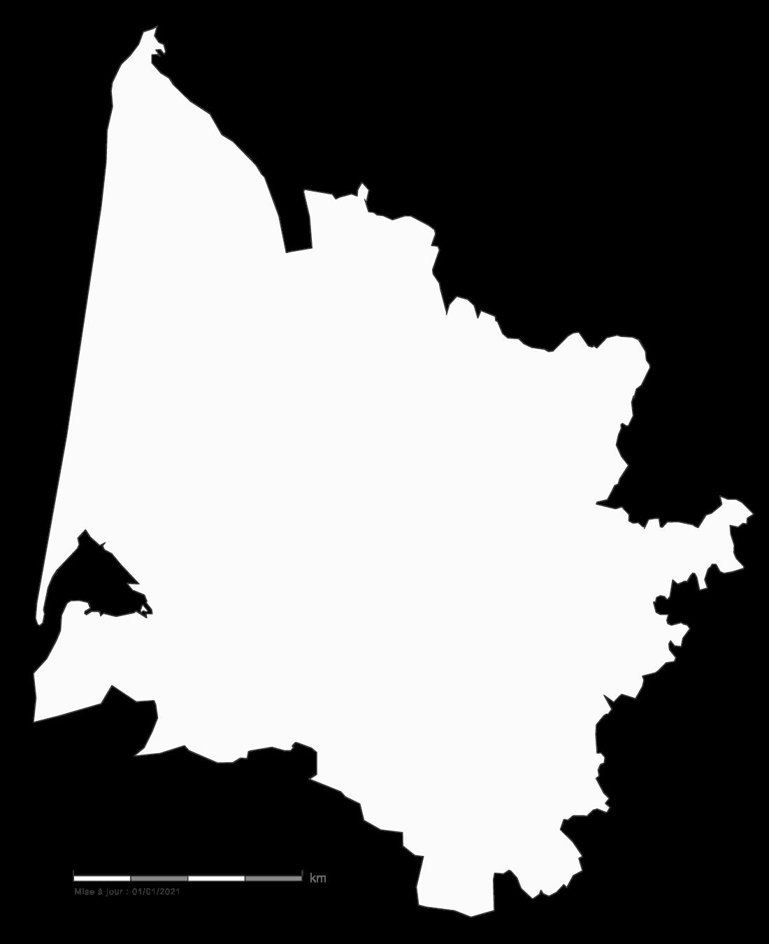 carte gratuite de la Gironde 33
