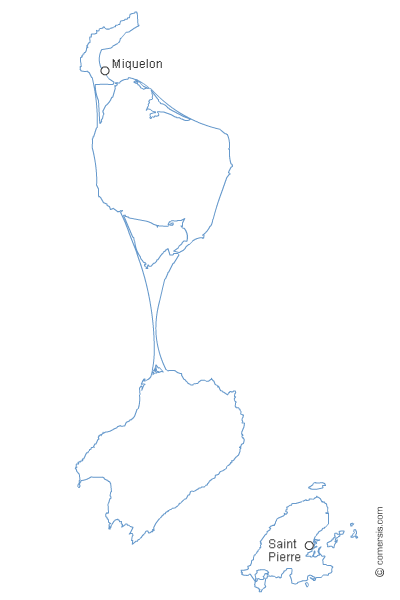 carte gratuite de Saint-Pierre et Miquelon 975