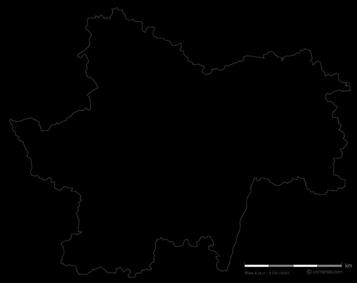 carte gratuite de Sa�ne-et-Loire 71