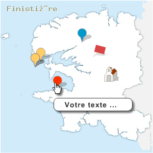 carte spot du Finist�re