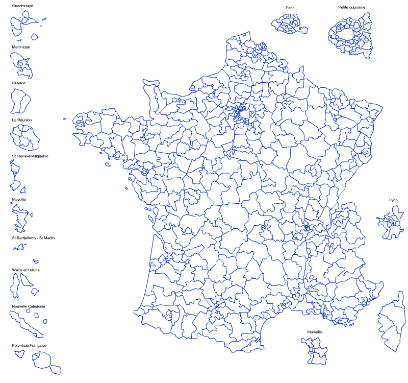 Les circonscriptions de France