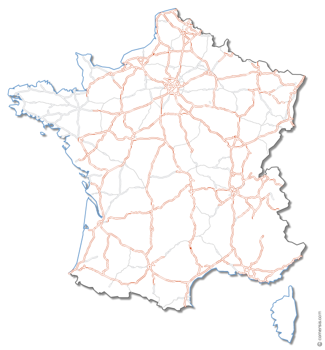 Autoroutes et routes de France