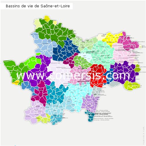 Bassins de Vie de Sa�ne-et-Loire