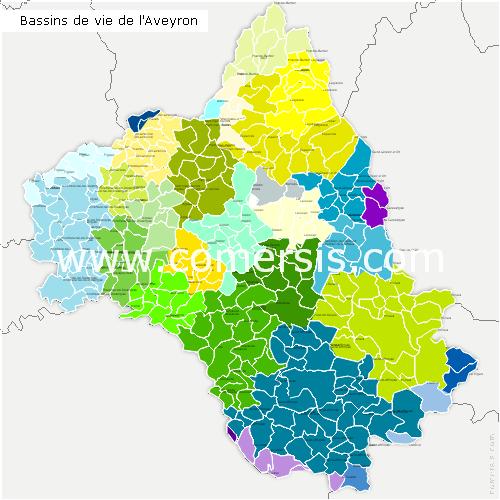 Bassins de Vie de l'Aveyron