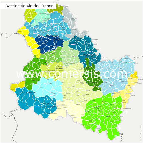Bassins de Vie de l'Yonne