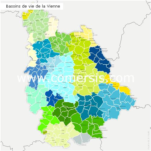 Bassins de Vie de la Vienne