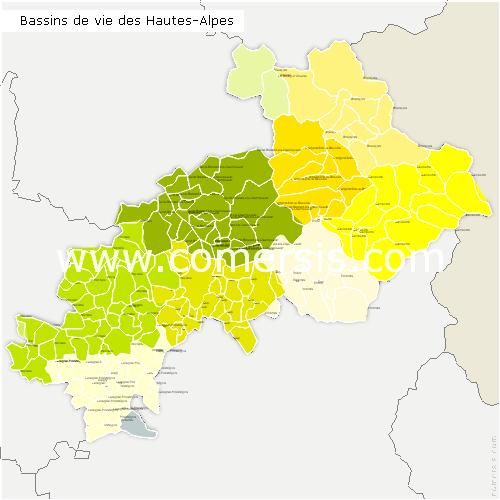 Bassins de Vie des Hautes-Alpes