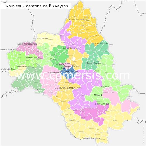 Télécharger € 24.90 des nouveaux cantons de l' Aveyron 2014 pour Word et Excel.
