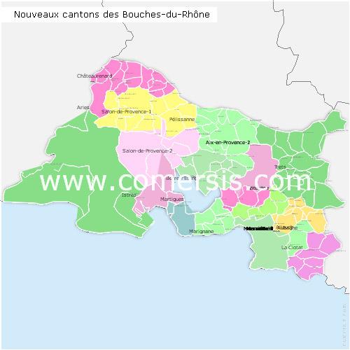 Ajouter au panier nouveaux cantons des Bouches-du-Rhône 2015 pour Word et Excel