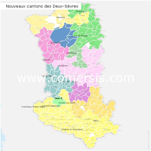 Ajouter au panier nouveaux cantons des Deux-Sèvres 2015 pour Word et Excel