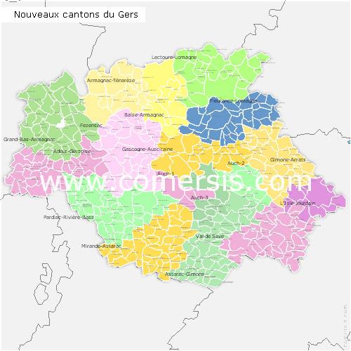 Télécharger € 24.90 des nouveaux cantons du  Gers 2014 pour Word et Excel.