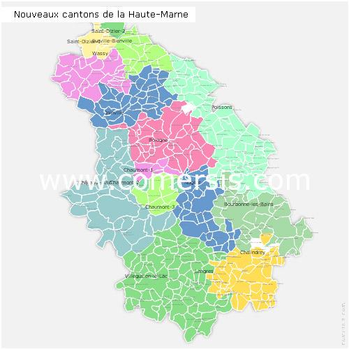 Liste des communes cantons et communaut s de communes de for Haute marne carte