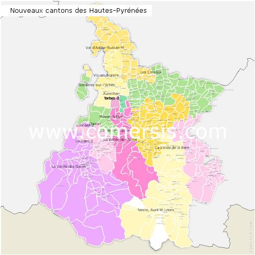 Télécharger € 24.90 des nouveaux cantons des  Hautes-Pyr�n�es 2014 pour Word et Excel.
