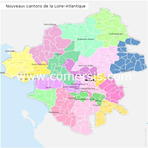 nouveaux cantons de la Loire-Atlantique 2015 pour Word et Excel